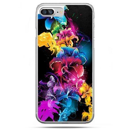 Etui na telefon iPhone 8 Plus - kolorowe kwiaty