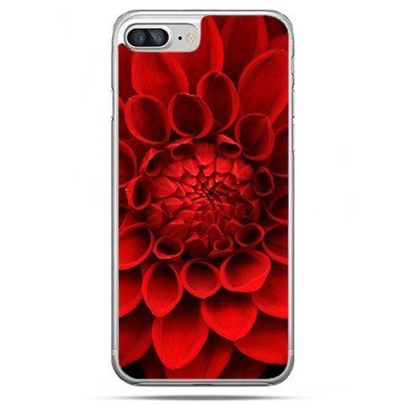 Etui na telefon iPhone 8 Plus - czerwona dalia