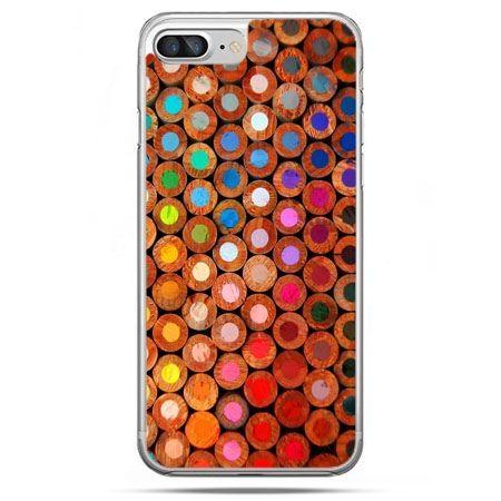 Etui na telefon iPhone 8 Plus - kolorowe kredki