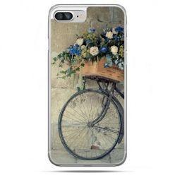 Etui na telefon iPhone 8 Plus - rower z kwiatami