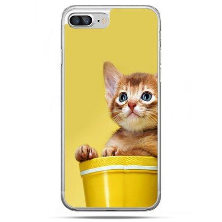 Etui na telefon iPhone 8 Plus - kot w doniczce