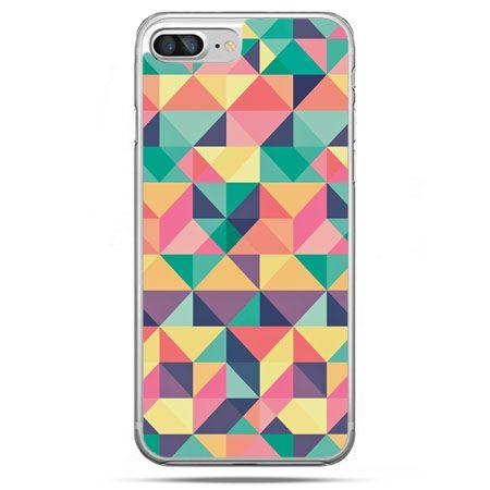 Etui na telefon iPhone 8 Plus - kolorowe trójkąty