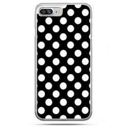 Etui na telefon iPhone 8 Plus - Polka dot czarna