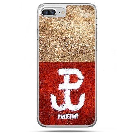 Etui na telefon iPhone 8 Plus - Polska walcząca flaga