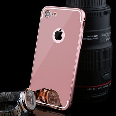Mirror bumper case na iPhone 8 - Rose Gold.