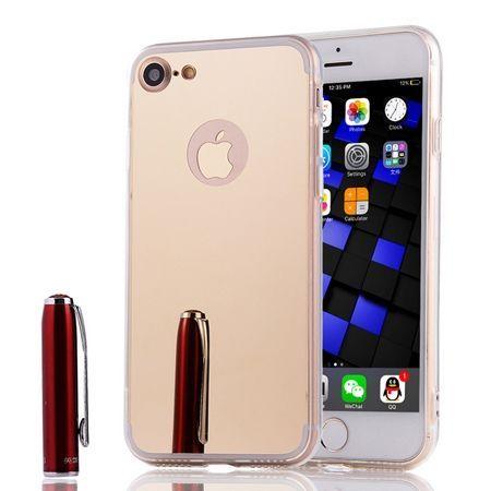 iPhone 8 mirror - lustro silikonowe etui lustrzane TPU - Złoty.