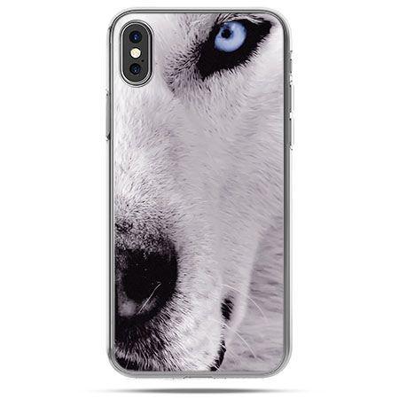 Etui na telefon iPhone X - wilk