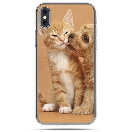Etui na telefon iPhone X - jak pies i kot