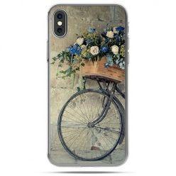 Etui na telefon iPhone X - rower z kwiatami
