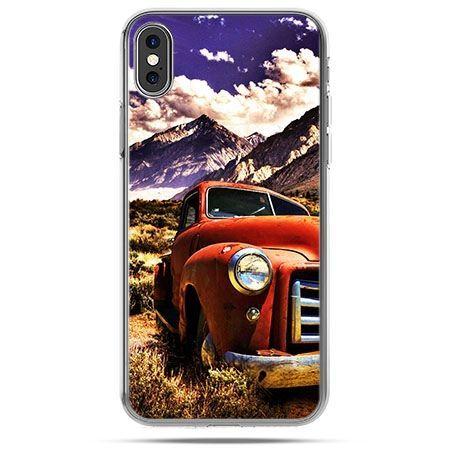 Etui na telefon iPhone X - retro pick-up
