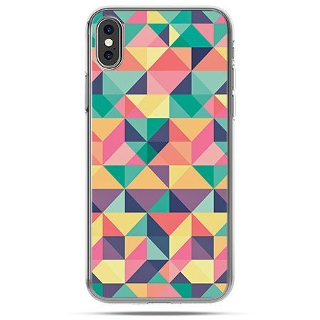 Etui na telefon iPhone X - kolorowe trójkąty