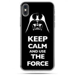 Etui na telefon iPhone X - Keep calm and use the force