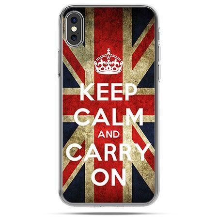 Etui na telefon iPhone X - Keep calm and carry on