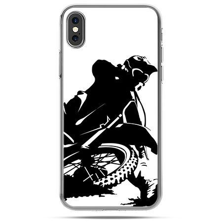 Etui na telefon iPhone X - motocykl cross