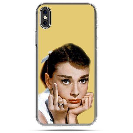 Etui na telefon iPhone X - Audrey Hepburn Fuck You