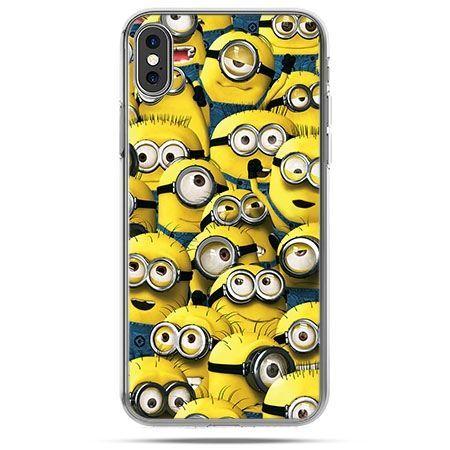 Etui na telefon iPhone X - Minionki grupa