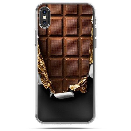 Etui na telefon iPhone X - czekolada
