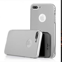Mirror bumper case na iPhone 8 Plus - Srebrny