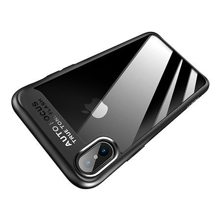 Etui na iPhone X -  ROCK Clarity - Czarny