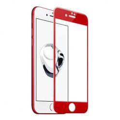 Hartowane szkło na cały ekran 3d iPhone 6 Plus / 6s Plus - Czerwony.