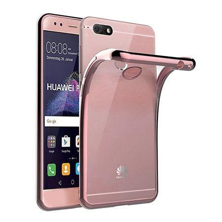 Huawei P9 Lite mini -  etui silikonowe platynowane SLIM tpu - Różowy.