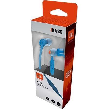 Słuchawki douszne z mikrofonem JBL - Niebieskie.
