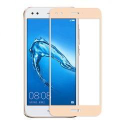 Hartowane szkło na cały ekran 3d Huawei P9 Lite mini - Złoty.