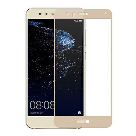 Hartowane szkło na cały ekran 3d Huawei P10 Lite - Złoty.