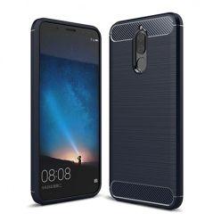 Etui na Huawei Mate 10 Lite - bumper Neo CARBON - Granatowy.