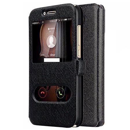 Etui na Huawei Mate 10 Lite Flip Quick View z klapką dwa okienka - Czarny.