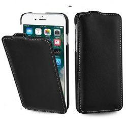 Etui na iPhone 7 Plus Stilgut Ultraslim skórzane - Czarny.