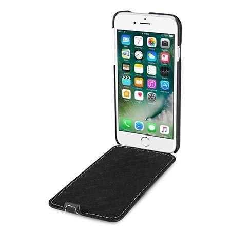 Etui na iPhone 7 Stilgut Ultraslim skórzane - Czarny.