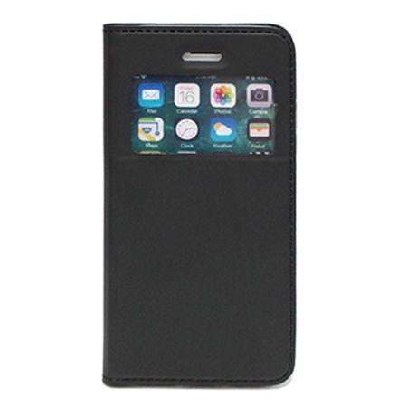 Etui na iPhone 7 - S View z klapką - Czarny.