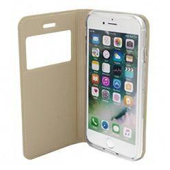 Etui na iPhone 8 -  S View z klapką - Złoty.