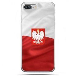 Etui na telefon iPhone 8 Plus - flaga Polski z godłem - Promocja !!!