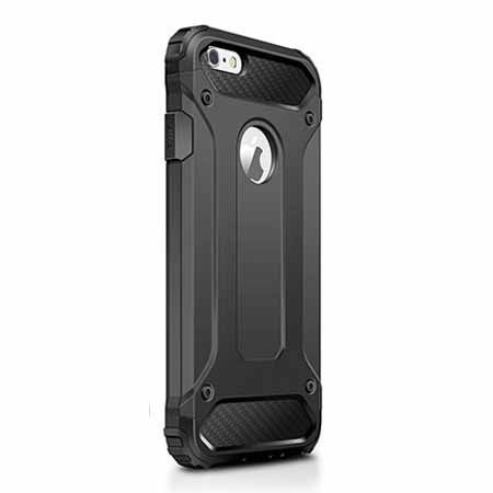 Etui na iPhone 6 / 6s - Pancerne - Czarny