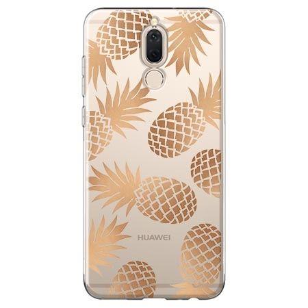 Etui na Huawei Mate 10 lite - złote ananasy.