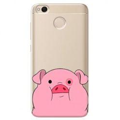 Etui na Xiaomi Redmi 4X - słodka różowa świnka.