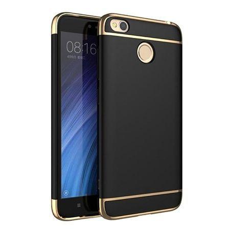 Etui na telefon Xiomi Redmi 4X - Slim MattE Platynowane - Czarny.