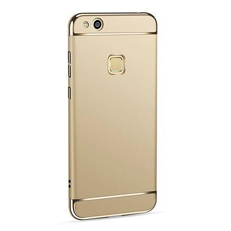Etui na telefon Huawei P10 Lite - Slim MattE Platynowane - Złoty.