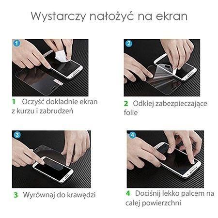 Hartowane szkło na cały ekran 3d iPhone 8 - Bezbarwny.