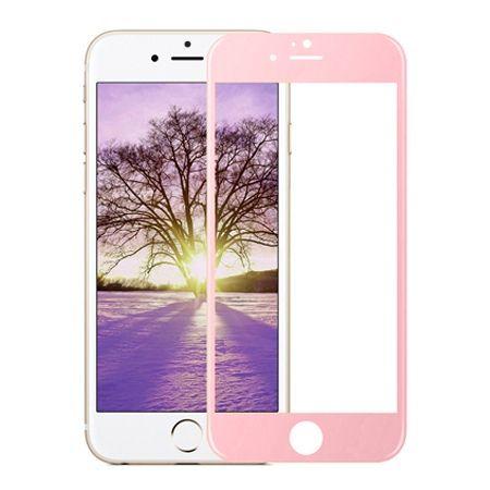 Hartowane szkło na cały ekran 3d iPhone 5  /  5s - Różowy.