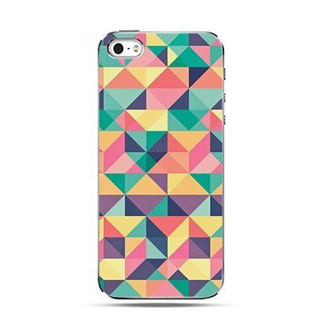 Etui kolorowe trójkąty