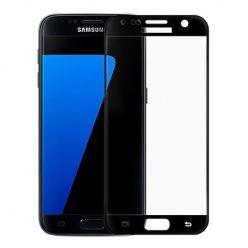 Szkło Hartowane na Samsung Galaxy S7 cały ekran 3d Czarny.