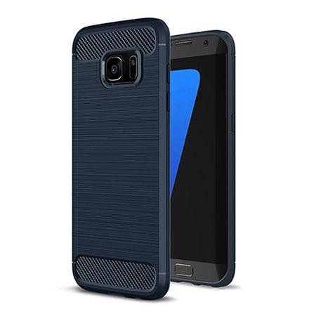 Etui na Galaxy S7 - bumper Neo CARBON - Granatowy.