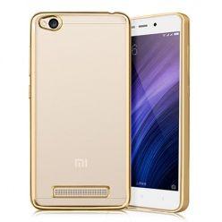 Etui na Xiaomi Redmi 4A - platynowane  SLIM tpu - Złoty.