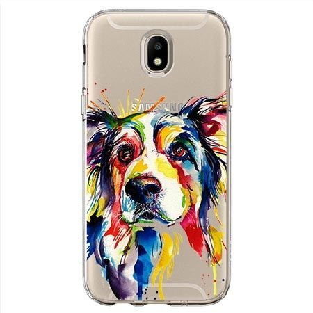Etui Na Samsung Galaxy J7 2017 Watercolor Pies 35459 Etuistudio