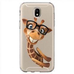 Etui na Samsung Galaxy J7 2017 - wesoła żyrafa w okularach.