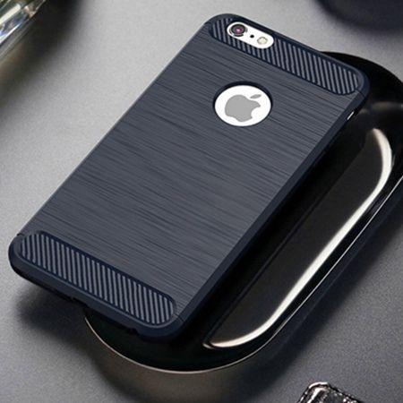 Etui na iPhone 8 - bumper Neo CARBON - Granatowy.
