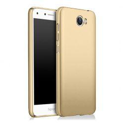 Etui na telefon Huawei Y6 II Compact - Slim MattE - Złoty.